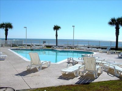 One of 2 oceanfront swimming pools