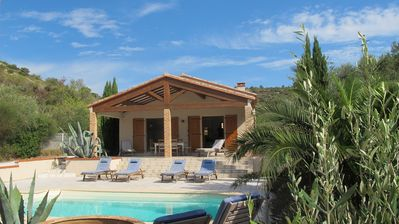Photo for Luxury villa with private pool, peaceful, ancient wine village, close to sea