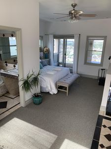 Master suite with private full bath and balcony overlooking Southside and city!