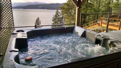 Photo for Scenic lakefront retreat w/ three decks, a hot tub & a private 48-foot dock!