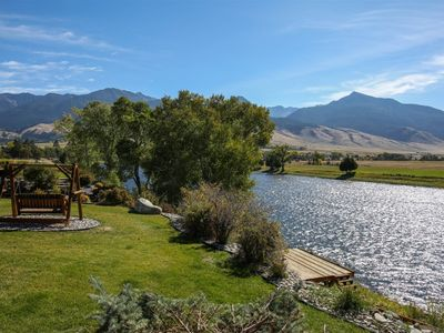 Photo for Yellowstone River Retreat - Riverfront with only Private Dock in Paradise Valley!