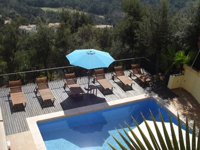 Photo for Large detached hillside villa, private pool with stunning views - sleeps 10