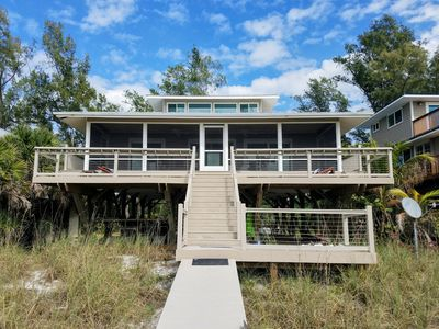Photo for Reduced! Moonshine beach house on  Little Gasparilla Island - right on the beach