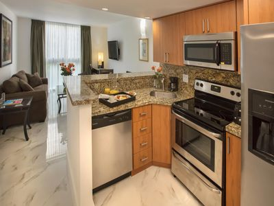Kitchen has all the conveniences of home. (room appearance may vary)
