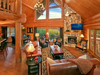 Photo for Paradise in the Smokies! One-of-a-Kind Luxury Cabin with Majestic Views!