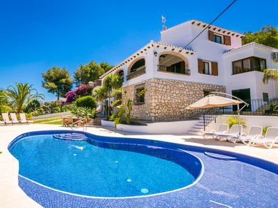 Photo for Beautiful Villa With Heated Private Pool and Breathtaking Views Of The Sea