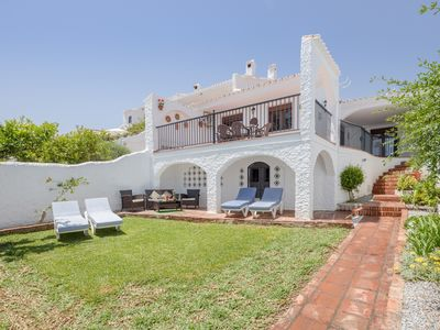 """Photo for Holiday Home """"Nerja Capistrano Villa"""" with Sea View, Wi-Fi, Garden, Terrace & Shared Pool"""