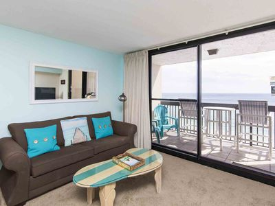 Photo for Beachfront Condo with Private Balcony! Indoor and Outdoor Pools! Onsite Fitness Center, Steam Room, and More!