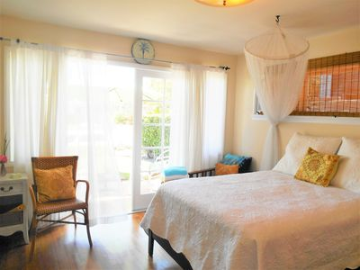 Photo for Sunny rooms, quiet residential area, short walk to beach, pier and  downtown