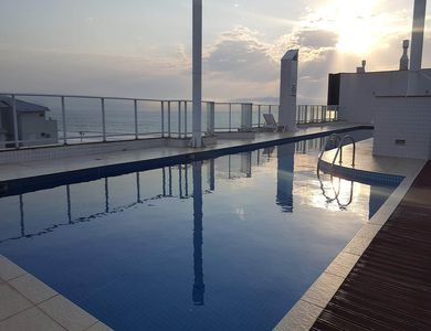 Photo for Sand Foot Apartment with Sea View! 3 beds, Pool, Balcony and barbecue
