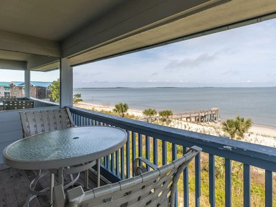 Photo for Amazing Sunrises from the Balcony of this Beachfront Condo with King Bed