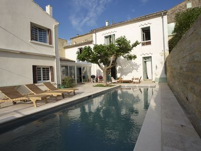 Photo for House with 10 rooms with pool in the heart of the town of Uzes