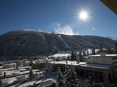 Photo for 2 bedroom apartment in the heart of Davos very well equipped and high