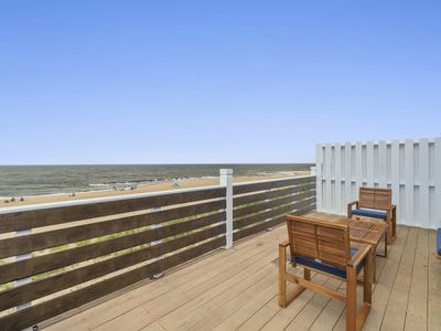 Photo for Dune House Coastal Getaway (Luxury Beachfront Duplex with 4 Decks, Sleeps 10)