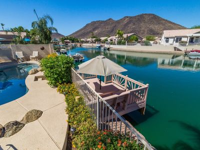 Photo for Lakefront Home with Mountain Views and Private Pool