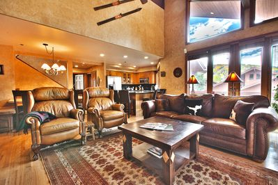 Two-story windows to enjoy the amazing beauty  of Deer Valley.