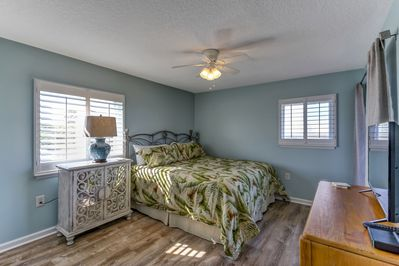Master Bedroom (King Bed) with a Flat Screen TV