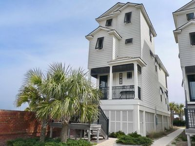 """Photo for Ready after Hurricane Michael! Just Steps to the Blue Parrot! Beachfront, Semi-Private Pool, Wi-Fi, 3BR/3.5BA """"One Charleston Place A"""""""