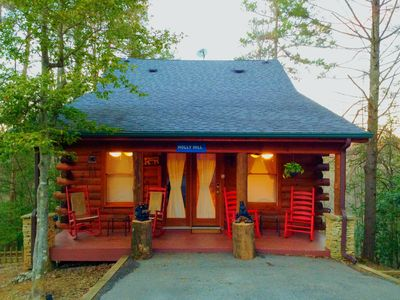 Photo for COZY, CHARMING LOG CABIN W/2 MASTER SUITES-PERFECT GETAWAY FOR A FAMILY/COUPLES