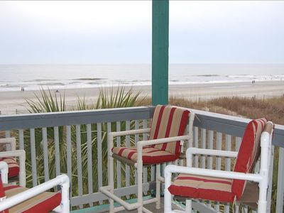 Photo for Oceanfront with Direct Beach Access from Your Deck