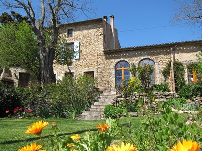 Photo for Magnificent stone house w. shared pool on small scale Domaine - Maison Malepere