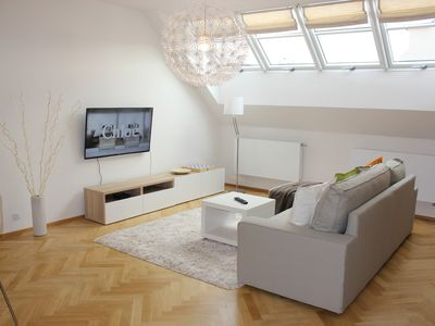 Photo for Modern 100 m2 apartment with AirCondition, balcony and parking