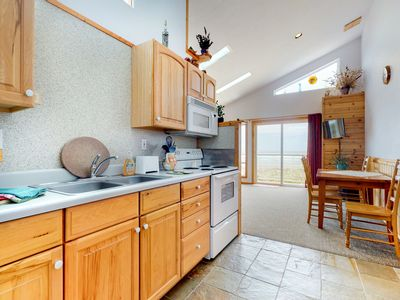 Photo for NEW LISTING! Oceanfront motel suite w/ wonderful views, deck & kitchen - dogs OK