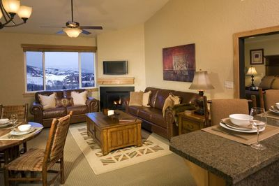Relax in the luxurious living area.