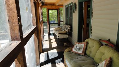 Right side of screened in porch.