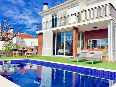 Photo for House in Canet de Mar with a large private garden and view of the beach.