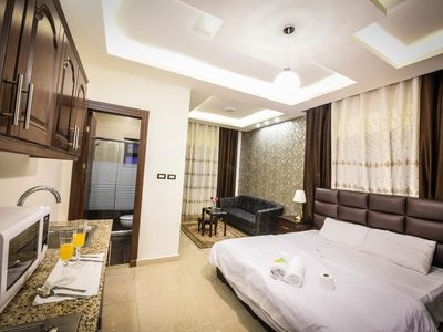 Photo for Alqimah Lovely Studio Apartment With Balcony Wifi