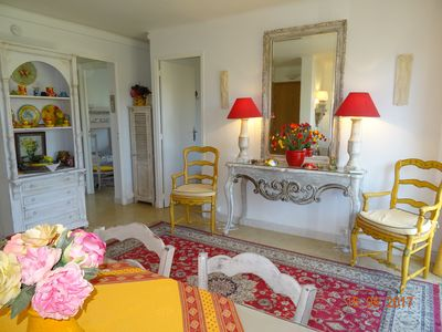 Photo for At heart of Sanary, charming apart.for 4persons, 3rooms, garage, 250m from beach