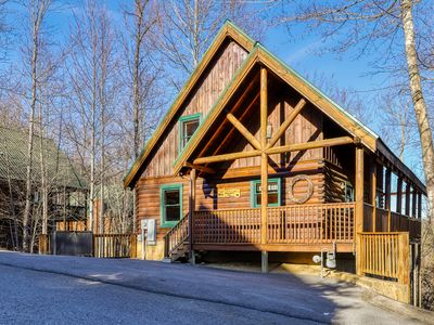 Dog-friendly cabin in the woods w/ a private hot tub & shared pool!