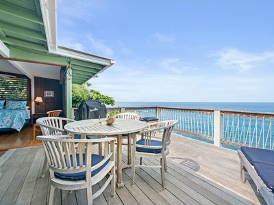 Photo for Spacious oceanfront 3 BR/3 BA home w/ large balcony walking distance to beach Makana Kai