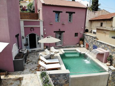 Photo for Luxury villa with private heated pool and amazing seaview
