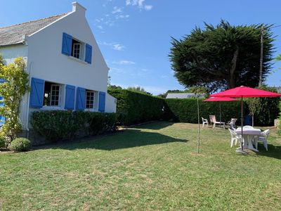 Photo for Small charming house (1936) sea view 100m from the beach in Saint Pierre Quibero
