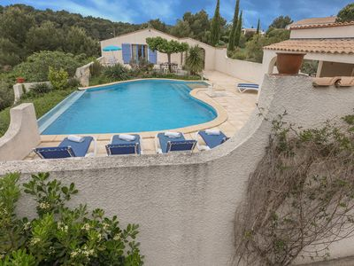 Photo for Luxurious holiday villa with private swimming pool, pool house and lots of privacy