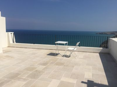 Photo for Spectacular terrace overlooking the sea