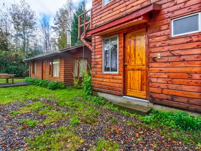 Photo for Cozy studio cabin with rustic charm, quiet surroundings, seasonal shared pool