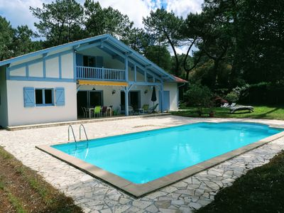 Photo for Indian summer Hossegor, villa for 10 people with swimming pool 1 km from the lake