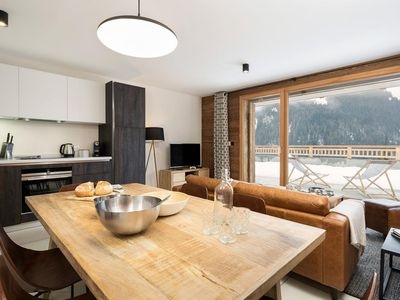 Photo for Brand new apartment located near the center and the ski slopes of Chatel.