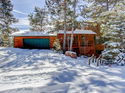 Photo for **New Listing**Beautiful Log Cabin with spectacular views of Pike's Peak