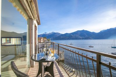 Apartment cozy balcony overlooking Bellagio and Varenna