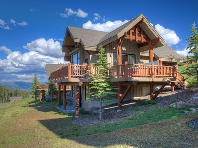 Photo for Breathtaking Views With Alpine Surroundings & Ski Access. Luxurious Lofty Cabin!
