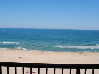 Photo for Cute, cozy 3-bedroom oceanfront condo with free WiFi, an outdoor pool, and a fantastic ocean view located midtown!