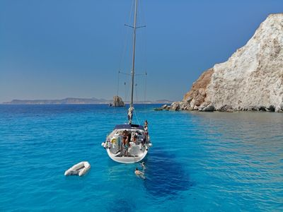 Photo for CRUISES AT THE CYCLADES AND DODECANESE IN A SAILING BOAT with skipper and chef