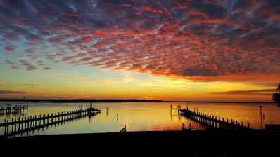 Photo for Waterfront, Pet Friendly~Incredible Sunsets! Kayak, Beach Chairs, Bikes, Firepit