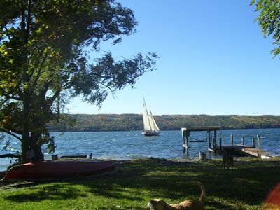 Photo for SLEEP Next to a WATERFALL on SENECA LAKEFRONT Pet friendly AVAILABLE NOW !