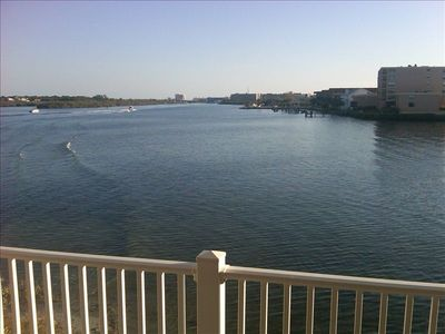 Incredible view down the intercostal.  Watch the boats go by with morning coffee