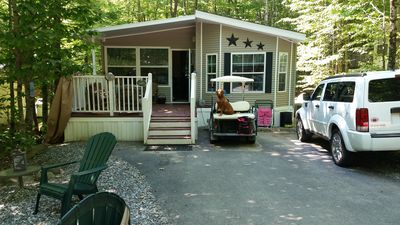 Photo for Clean, Well-maintained 3 Bedroom Resort Cottage, Minutes Walk To Sebago Lake!